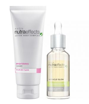 AVON NUTRA EFFECTS BRIGHTENING CLEANSER 100G + FACIAL OIL 30ML