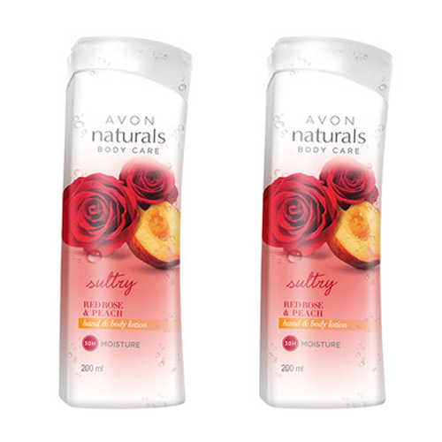 Avon Naturals Red Rose & Peach Body Lotion(combo set)