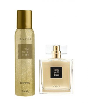 Avon Little Gold Dress Combo (EDP + Deodorant)