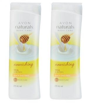 Avon Naturals Milk & Honey Body Lotion (combo set)