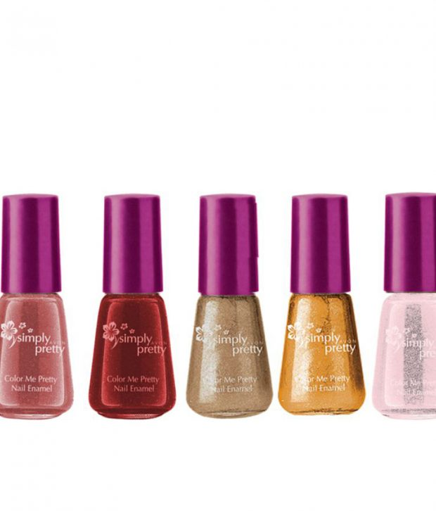 Avon Color Me Pretty Nail Enamel (champagne shimmer,glitter gold,ballerina pink,pink passion,luscious cherry)