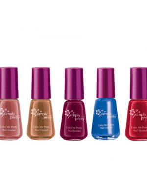 Avon Color Me Pretty Nail Enamel (coffee bean,maroon magic,blue,pink passion,cherry red)