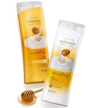 Avon Naturals Milk & Honey Body Lotion & Shower Gel (combo set)