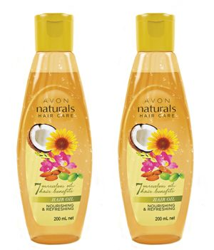 Avon Naturals Nourishing & Refreshing Hair Oil (set of 2)