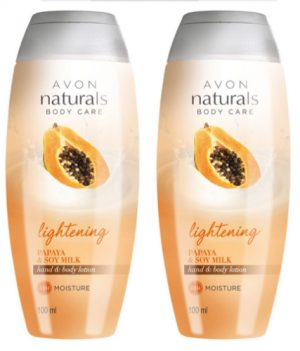 Avon Naturals Papaya & Soy Milk Hand & Body Lotion (combo set)