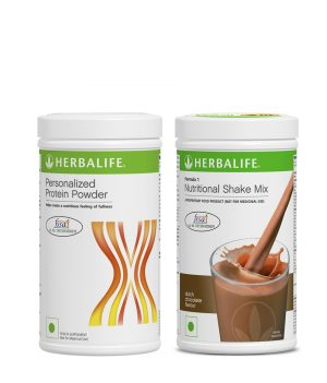 Herbalife Formula 1 Nutritional Shake Mix Chocolate (500 g) +Herbalife Personalized Protein Powder 400 g.