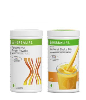 Herbalife Formula 1 Nutritional Shake Mix Mango (500 g) +Herbalife Personalized Protein Powder400 g.