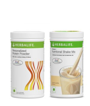 Herbalife Formula 1 Nutritional Shake Mix Vanilla (500 g) +Herbalife Personalized Protein Powder 400 g.
