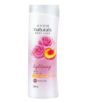 Avon Naturals Red Rose & Peach Body Lotion 200ml