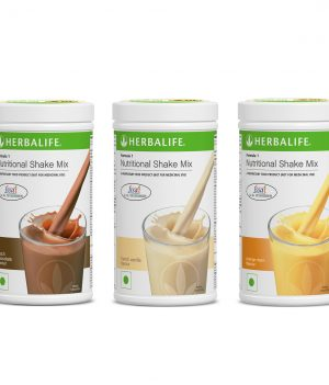 Herbalife Formula 1 Nutritional Shake Mix Orange Cream - Vanilla - Chocolate (500 g each)